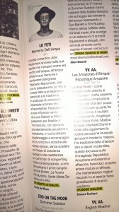 """Lo yeti: recensione su Rockerilla de """"Le Memorie dell'Acqua"""""""